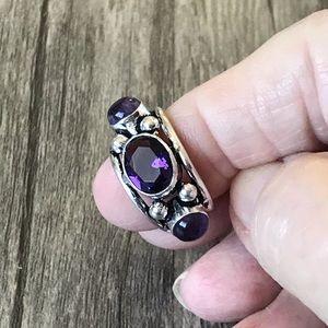 Brazilian Amethyst .925 Silver Ring